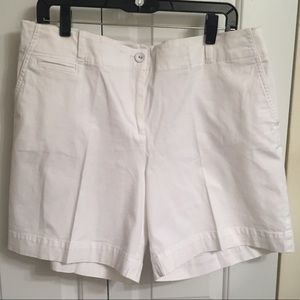 Talbots Solid White Shorts 16